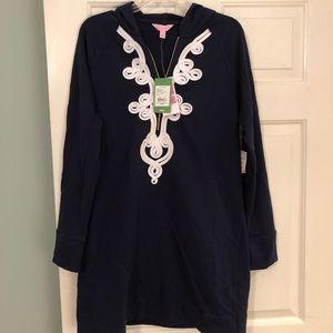 Lilly Pulitzer hooded skipper dress, size medium